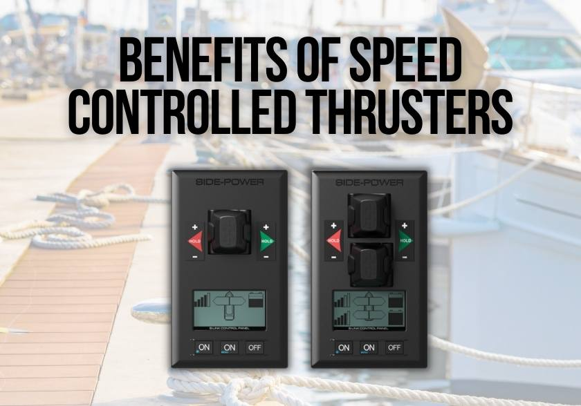 Benefits of speed controlled thrusters one single bow thruster controller and a dual bow thruster controller